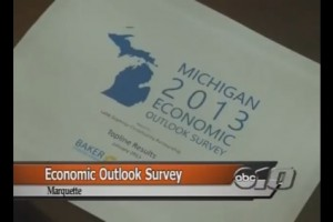 David will present Michigan 2013 Economic Outlook Survey results in Marquette, Michigan