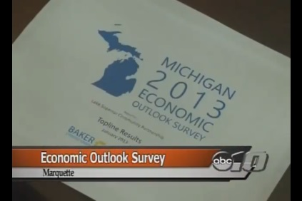 Presenting Michigan 2013 Economic Outlook Survey Results in Marquette, Michigan